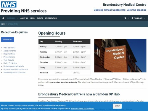 Brondesbury Medical Centre's New Website